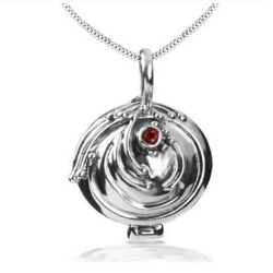 Elena Gilbert Ironher Necklace - High Quality - 925 Sterling Silver - Anti Vampire Locket Gothic Fashion