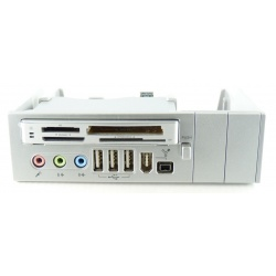 "64 in 1 to 5.25"" Panel Silver CardReader USB 2.0 and Fire Wire"