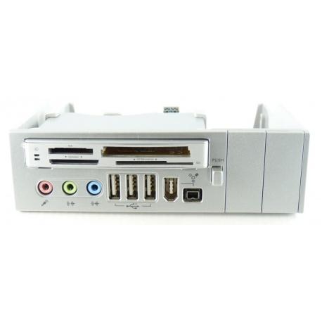 "64 in 1 bis 5,25 ""Panel Silber Cardreader USB Fire"