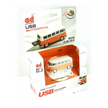 Autodrive VW Bus T1 Volkswagen Orange / Wei? 8 GB USB-Stick