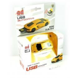 Autodrive Lamborghini Aventador gelb / schwarz 8 GB USB-Stick mit leucht.Scheinw