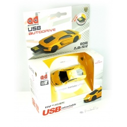 Autodrive Lamborghini Aventador yellow / black 8GB USB stick with luminous. Scheinw