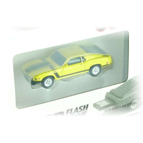 Autodrive 1970 Ford Mustang schwarz / gelb 8 GB USB-Stick