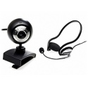 Skype Webcam 1.3MP & Neckband Headset Box High Quality Stereo PB1300-Plus