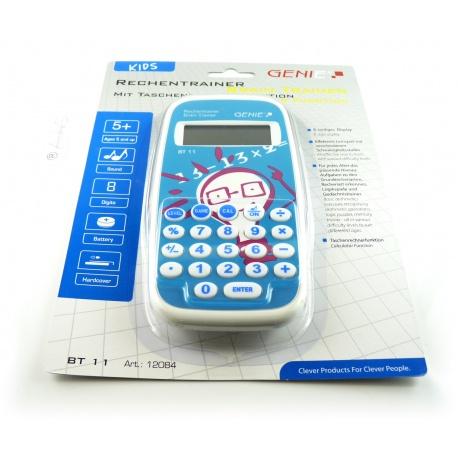 Genie BT11 Rechentrainer - Mathe lernen mit ca. 300.000 Aufgaben, inklusive Taschenrechner & Schutzdeckel