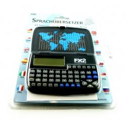 12 Sprachen?bersetzer FX2 mit 12 Sprachen, 60000 W?rtern, schwarz