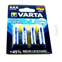 VARTA High Energy Typ AAA Micro-Zelle 4 St?ck auf Blister