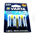 VARTA High Energy Type AAA Micro Cell 4 Pieces on Blister