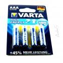 VARTA High Energy Typ AAA Micro-Zelle 4 Stück auf Blister