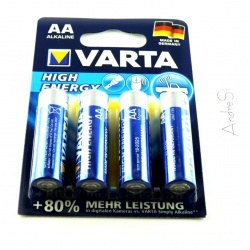 VARTA High Energy Type AA Mignon Cell 4 Pieces on Blister