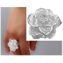 Elven Ring - Aryas Silver Rose - made of 925 sterling silver - finely chiseled Elbe craftsmanship