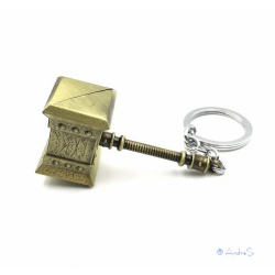 WoW - Thrall Doomhammer as pocket and key pendant made of metal with key ring
