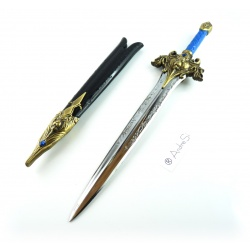 Letter Opener World of Warcraft - Royal Lion's Head Sword of the Knights of Storm wind of the Alliance approx. 27cm incl. vagina