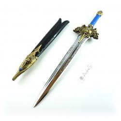 Warcraft - Königliches Löwenkopf Schwert der Ritter von Sturmwind der Alliance ca. 27cm inkl. Scheide, Brieföffner