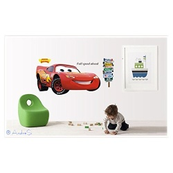 cool Lightning McQueen mural - Cars-Fashion wall sticker, PVC wall sticker (removable) approx. 60x90cm
