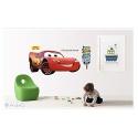 cooles Lightning McQueen Wandbild - Cars-Fashion Wandsticker, Wandaufkleber aus PVC (wieder ablösbar) ca. 60x90cm