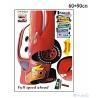 cooles Lightning McQueen Wandbild - Cars-Fashion Wandsticker, Wandaufkleber aus PVC (wieder abl?sbar) ca. 60x90cm
