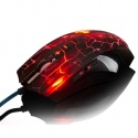 Quake 7 LED Mouse Ajazz, 8 Tasten, 8D Optical 2400 dpi Gaming Mouse