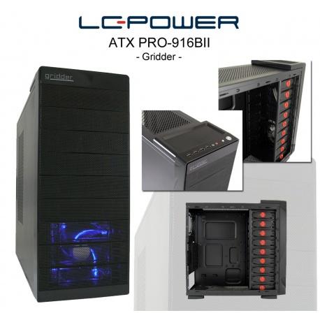 Midi Tower LC Power ATX Pro-Line Pro-906B mit 420W ATX Netzteil Pro-Line & 120mm L?fter