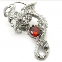 Dragon pendant with red crystal