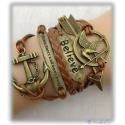 Hunger Games - Bracelet Spottt Oil, Peetas Arrow & Anchor et al. - gold/brown shaded - Gothic, Punk Fashion
