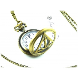HP Fashion - Halskette - Heiligtümer des Todes - Platinum hartverdelter Anhänger mit geschmeidiger 50-52cm Schlangenkette