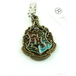 Hogwarts Pendant Classic with house colors in the coat of arms of Gryffindor, Slytherin, Ravenclaw, Hufflepuff
