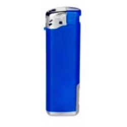 Feuerzeug blau mit LED Licht, nachfüllbar