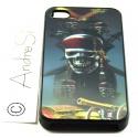 Totenkopf Pirat mit Schwertern, Kanone und Truhe 3D - iPhone 4 / 4S Handy Schutzhülle - Cover Case