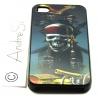Totenkopf Pirat Jack Sparrow mit Schwertern, Kanone und Truhe - iPhone 4 / 4S Handy Schutzhülle - Cover Case