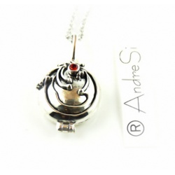 Elena Gilbert Iron herb Silver Pendant Necklace - Anti Vampire Locket Gothic Fashion