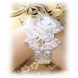 Elben Ring - Aryas silberne Rose - aus 925er Sterling Silber - fein ziselierte Elbische Handwerkskunst