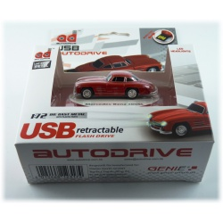 Autodrive Mercedes SL 300 red 8GB USB stick