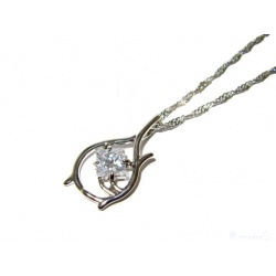 Tauriel's crystal tear of the Waldelbin, with chain in jewelry box, chain with pendant and noble crystal, hard silver plated