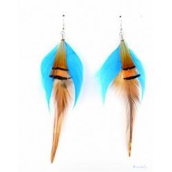 zauberhafte Feder-Schmuck Ohrringe