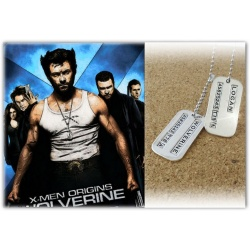 Wolverine / Logan identification brand hard silver-plated polished-used - incl. ball chain