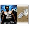 Wolverine / Logan Erkennungsmarke hartversilbert poliert-used - inkl. Kugelkette
