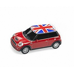 Autodrive Mini Cooper red 8GB USB stick with luminous headlights
