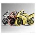 8GB Metal Creative Motorcycle-Shaped USB Flash Drive