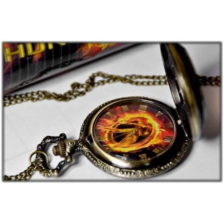 Die Tribute von Panem - Spotttölpel Uhr Anhänger nostalgisch- Quarz Uhr - Hunger Spiele