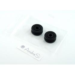Gummi-Lagerung für zwei Bürsten kompatibel zu Saugroboter Klarstein Cleanrazor & Solac Ecogenic Aa3400