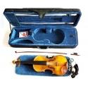 hochwertige 4/4 Schüler- Studenten- Konzert-Violine goldgelb aus vollmassiven Tonhölzern komplett mit Formkoffer und Bogen