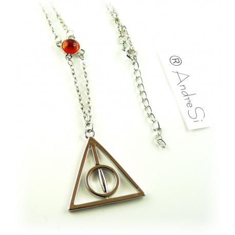 Halskette - Heiligtümer des Todes - mit rotem Kristall