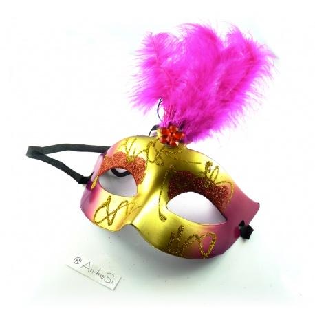 Venedische Maske mit Leuchteffekt