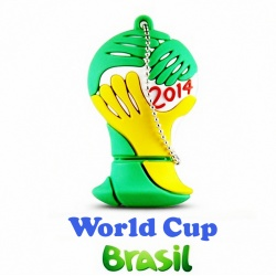USB Stick Football Cup Brazil with World Champion Germany - 8GB USB 2.0 - as keychain
