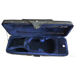 4/4 Shaped Case Violin - Violin Case with Blue Velvet