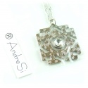 Arkenstein pendant with multifaceted zircon crystal, the king jewel of the dwarves Ereburs