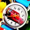 Kids Armbanduhr Pure Time Kinderuhr, verschiedene Auto Motive Silik.Armband weis