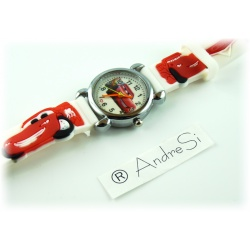 Cars Wristwatch Kids Time Kids Watch, Various Motifs - Silicone Bracelet White/Colorful