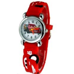 Cars Armbanduhr Kids Time Kinderuhr, verschiedene Motive - Silikon Armband Rot/Bunt